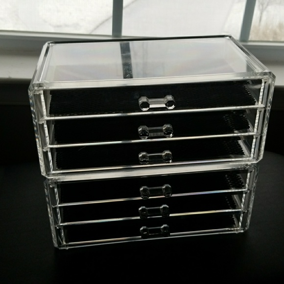 accessories 2 acrylic 3 drawer make up organizers poshmark